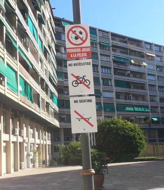 No balls, no bikes, no skating